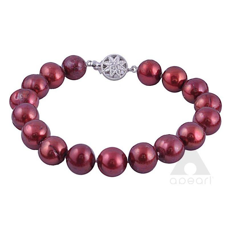 Srebrna bransoleta z pereł Biwa
