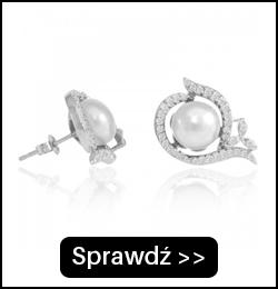 Srebrne kolczyki z perłami E01799S
