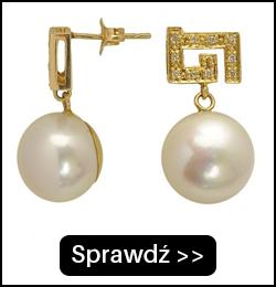 Złote Kolczyki z Perłami i Brylantami FE12311G