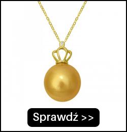 Złoty Łańcuszek z Perłą South Sea i Diamentem LAN115AG